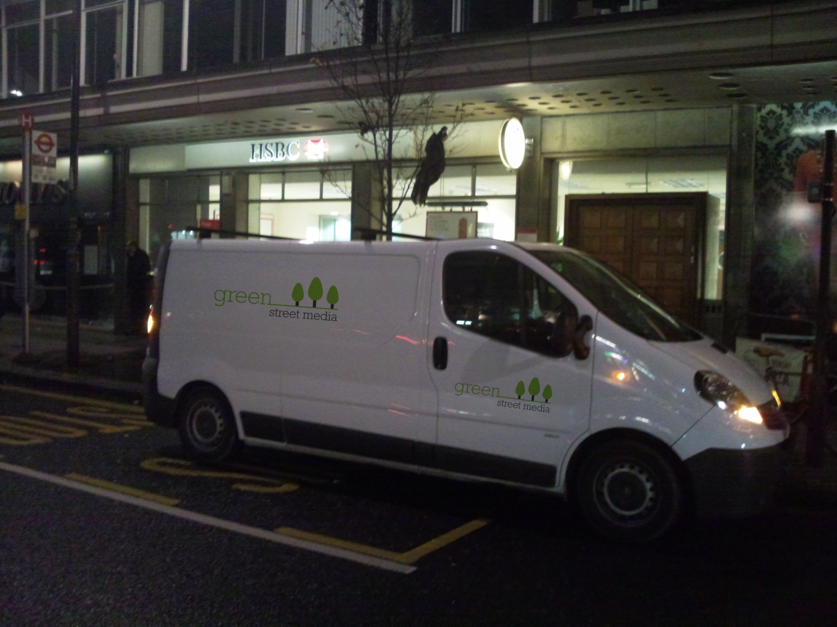 Green Street Media Clean Advertising Van